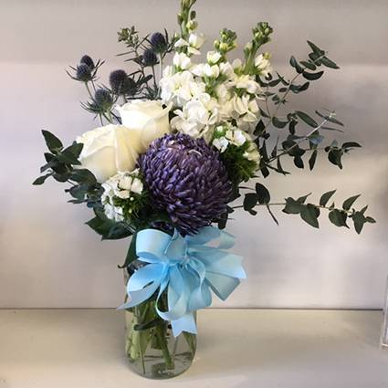 Blue Blossom Jar
