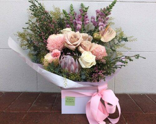 Pastel bouquet box