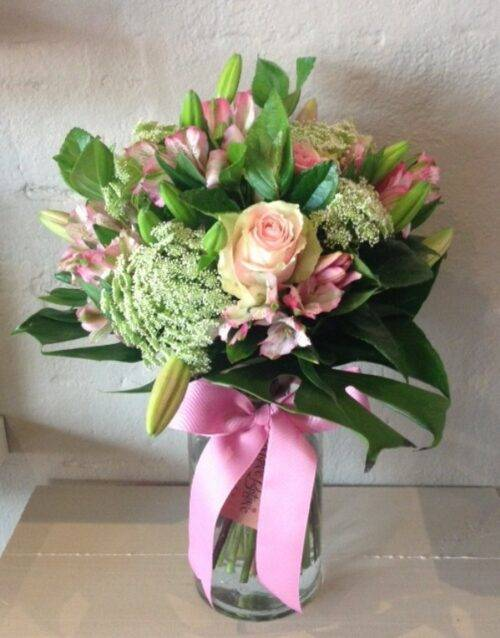 seasonal pastel vase arrangement pastels
