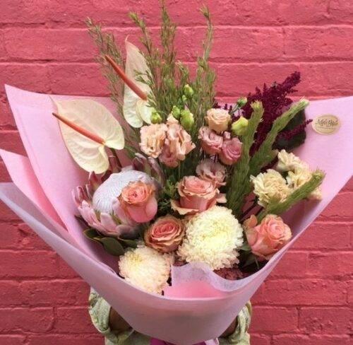 seasonal pastel flower bouquet