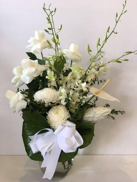 white luxe vase