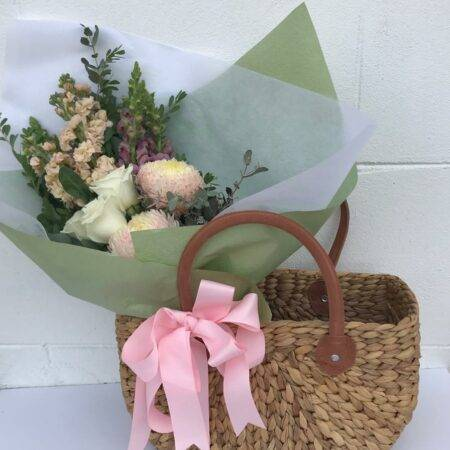 Flowers plus gift basket