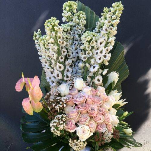 tall pastel bouquet