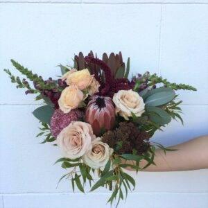 australian natives wedding bouquet